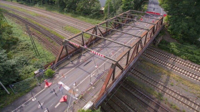 Cölve-Brücke von oben